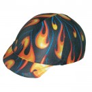 Lycra Helmet Cover with Flame Design
