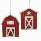 Can Pro Wooden Red Barn Ornaments