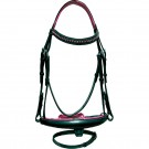Sage Family Pony Bridle with Pink Padding
