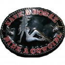 Save a Horse, Ride a Cowgirl Belt Buckle