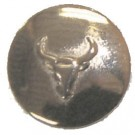 Engraved Bull Head Concho