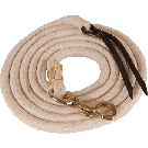 White Pima Cotton Lead Rope -Bolt Snap