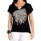 Ladies Liberty Wear Battle Head Dress T-Shirt
