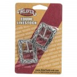"Weaver Horse Shoe Brand Floral Buckle 5/8"""