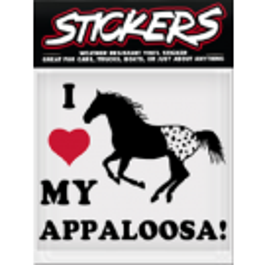 Can Pro I Love My Appaloosa Bumper Sticker