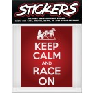 Can-Pro Keep Calm And Race On Bumper Sticker