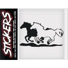 Can-Pro Two Galloping Horses Bumper Sticker