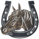 Horse in Horseshoe Sign- 13""