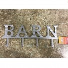 """Barn"" 4 Hook Metal Sign"