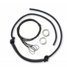 Myler Black Leather Noseband Replacement Kit