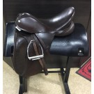 """Used 18"""" Barnsby Brown Dressage Saddle"""