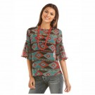 Ladies Rock and Roll Cowgirl Fashion Top