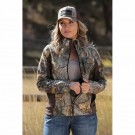 Ladies Cinch Camo Fleece Jacket