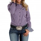 Ladies Cinch Striped Shirt