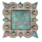 Turquoise and Pink Marble Concho