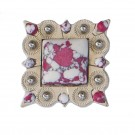 Red and White Marble Concho
