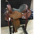 "Used 14.5"" Double J Lynn McKenzie Special Barrel Saddle"