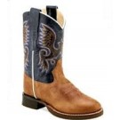 Old West Youth Broad Round Toe Boots