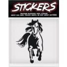 Can Pro Horse Running Towards Bumper Sticker
