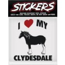 Can Pro I Love My Clydesdale Bumper Sticker