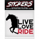 Can-Pro Live Love Ride Bumper Sticker