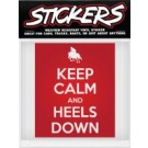 Can Pro Keep Calm & Heels Down Bumper Sticker