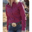 Ladies Cinch Pink Striped Shirt