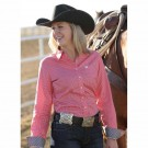 Ladies Cinch Shirt with White Dots