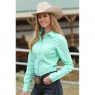 Ladies Cinch Solid Mint Shirt