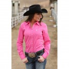 Ladies Cinch Solid Performance Shirt