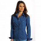 Women's Panhandle Slim Blue Print Shirt
