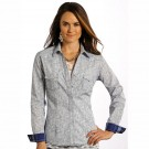Ladies Panhandle Slim Vintage Print Shirt