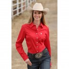 Ladies Cinch Solid Red Shirt