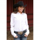 Ladies Cinch Solid White Shirt