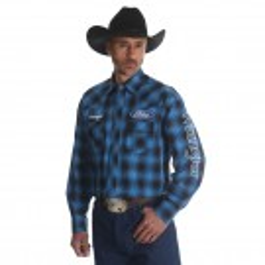 Wrangler Logo Long Sleeve Shirt #MP1298M Tall Sizes