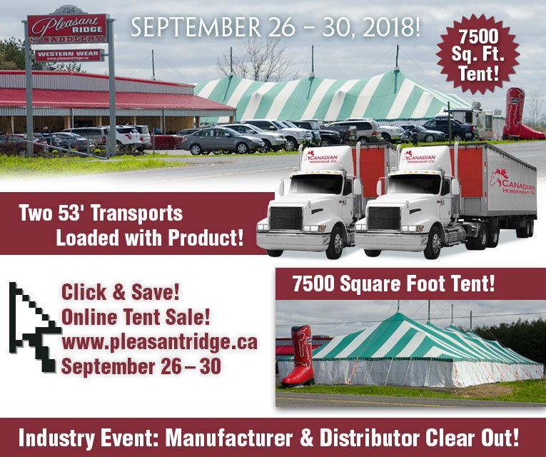 Pleasant Ridge Fall Tent Sale - Canada's Largest Horse Blanket Sale