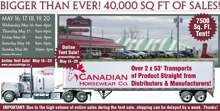 Pleasant Ridge Tent Sale